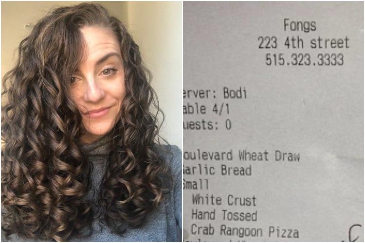 Mom Breastfeeding Waitress Note