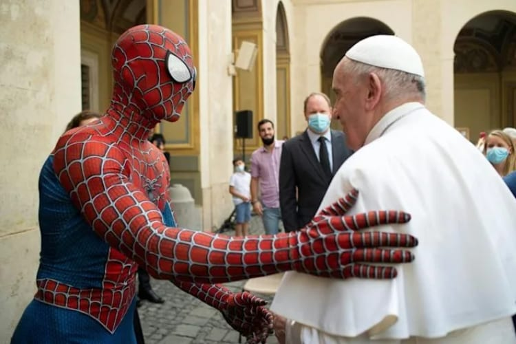 Pope Francis Meets Spider-Man