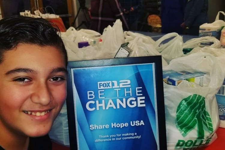 Middle Schooler Helps Feed 9,000 Homeless People